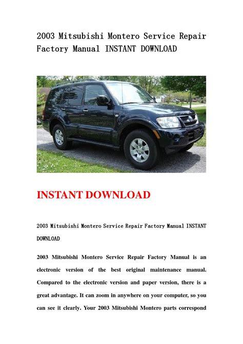 free car repair manuals 2006 mitsubishi montero regenerative braking service manual free download to repair a 2003 mitsubishi montero sport mitsubishi montero