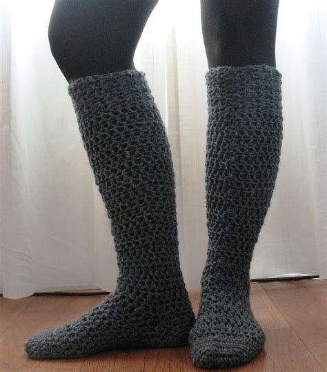 knitted boot socks free pattern top 10 free crochet and knit patterns for knee socks that