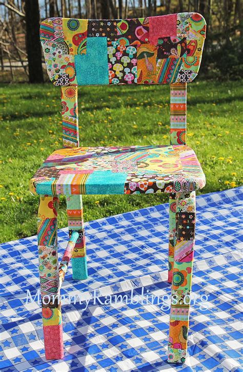 decoupage using fabric decoupage furniture with fabric and modpodge ramblings