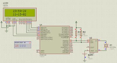 membuat jam digital menggunakan proteus blackbox electronics belajar rtc ds1307 membuat jam