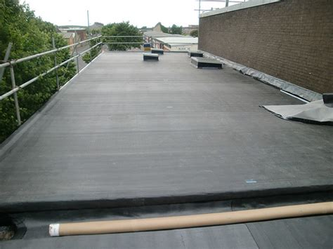 new epdm flat roof installed rubber roofing how to install rubber roofing on a flat roof