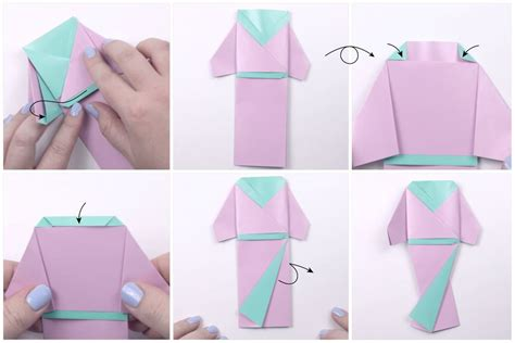 How To Make Doll From Paper - japanese origami doll tutorial
