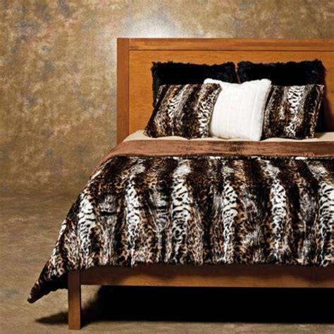fur bedding sets faux fur king comforter faux fur wildcat duvet cover set