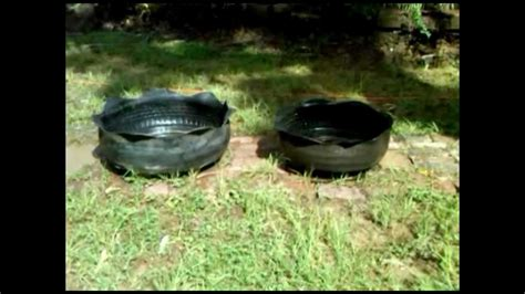 yard flower planters from recycled tires for sale