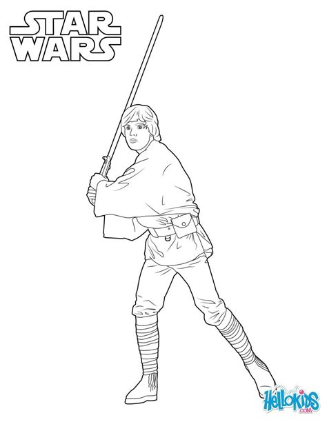 luke skywalker coloring pages hellokids