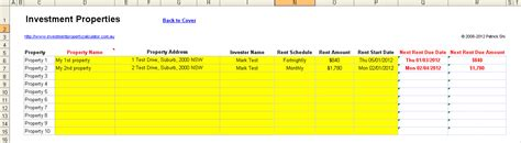 Rent Collection Spreadsheet by Investment Property Rent Collection Management Spreadsheet