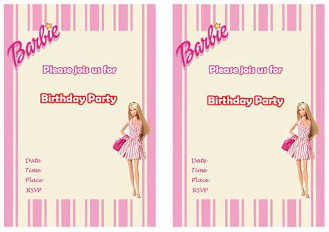 free printable barbie invitations cloudinvitation com
