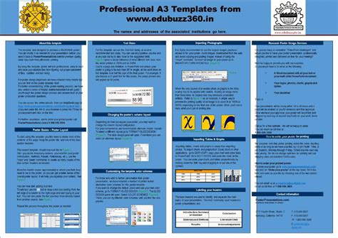 poster a2 template professional a3 templates for project poster presentation