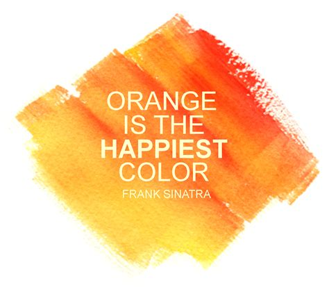 color of happy orange is the happiest color orange pinterest
