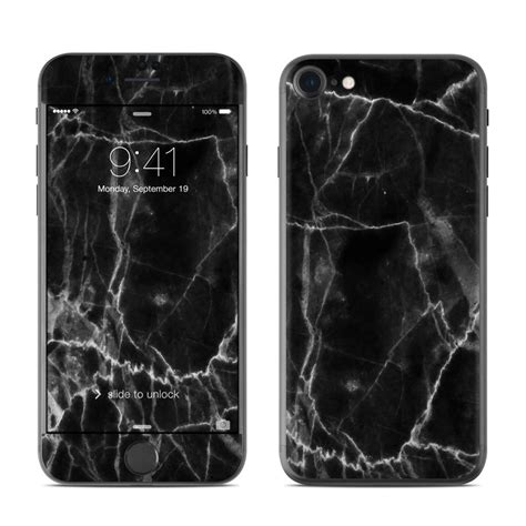 Black Marble Iphone 7 apple iphone 7 skin black marble by marble collection decalgirl