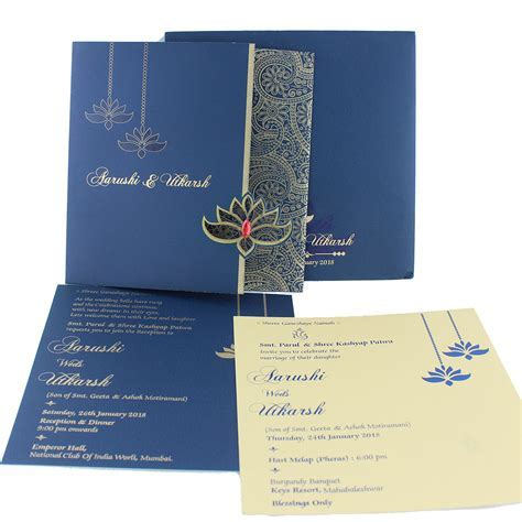 VC 292 ? Wedding Invitation Cards   Indian Wedding Cards