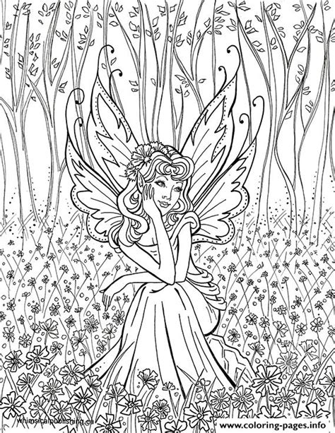 wood fairy coloring page contemplative fairy adult coloring pages printable