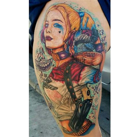watercolor harley quinn tattoo 13 watercolor harley quinn deadpool ftw by