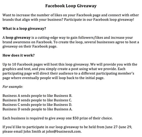 How To Create A Facebook Giveaway - how to easily create a facebook loop giveaway social media examiner