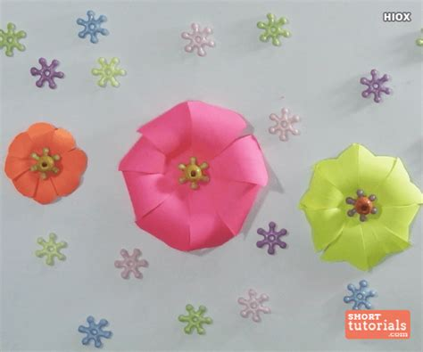 How To Make A Paper Corsage - how to make paper flowers origami flowers