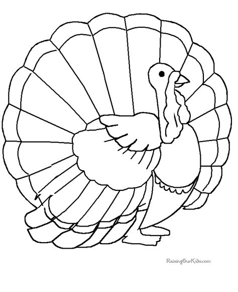 Printable Turkey Cut And Color | thanksgiving printables 009
