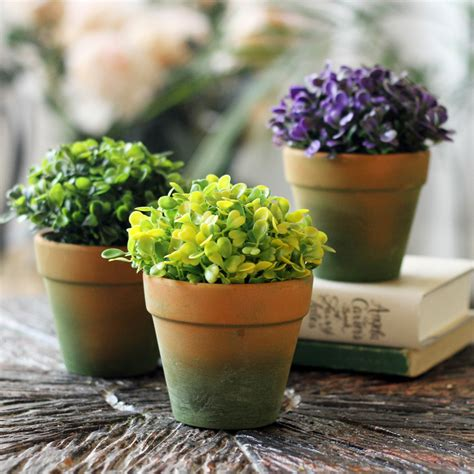small plants for office desk high artificial flower set green plant bonsai office desk