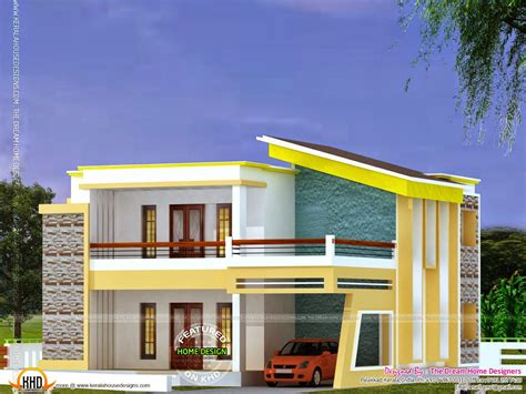 home design roof flat roof house plan and elevation kerala home design