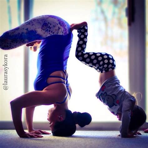 adsense instagram mom and daughter practicing yoga together see their