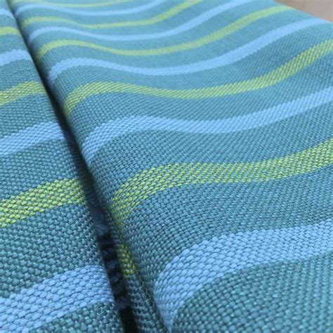 teal drapery fabric teal blue green yellow striped upholstery drapery fabric
