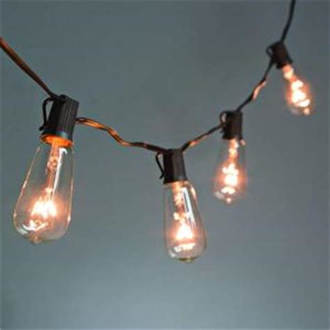 10 Light Clear Patio String To String Light Set 92887 String Lights For Patio Home Depot