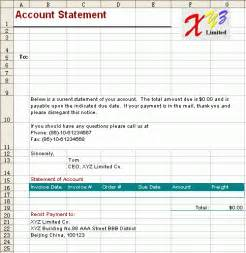 sle personal financial statement template account statement template