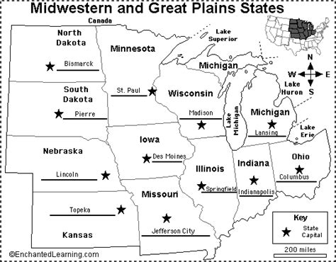 usa map with states and capitals and rivers west region states and capitals map