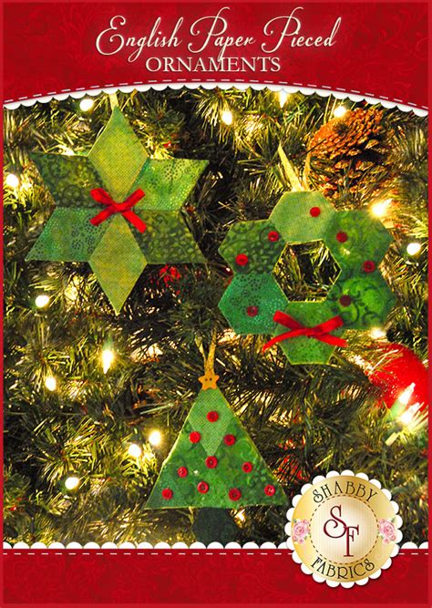 english paper pieced ornaments supply kit fabric not