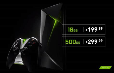 nvidia shield console nvidia shield console with 500gb of storage to cost
