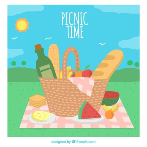 picnic images picnic time background vector free