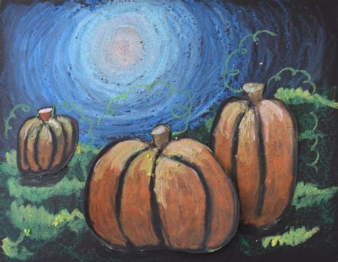 pumpkin drawings for lines moonlit pumpkins