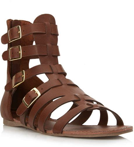 gladiator sandals forever 21 forever 21 classic gladiator sandals in brown walnut lyst