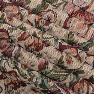 Tapestry Fabric Traditional Vintage Floral Garden Tapestry