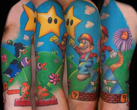 nintendo tattoos 20 best images about nintendo sleeve ideas on
