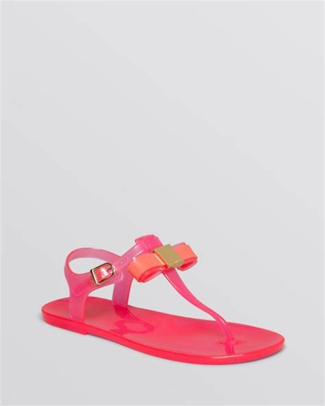 Ted Baker Jelly Sandal ted baker flat jelly sandals deynaa in pink lyst