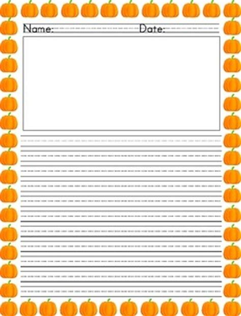 pumpkin writing paper pumpkin writing paper teaching tools by tisha