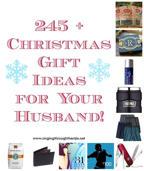 245 christmas gift ideas for your husband singing through the rain
