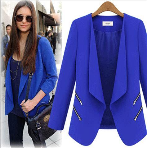 colorful plus size blazers bright blue blazer womens fashion ql