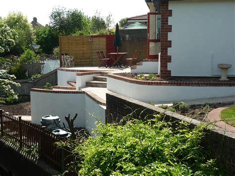 sloped backyard patio ideas sloping front garden design ideas interior exterior doors