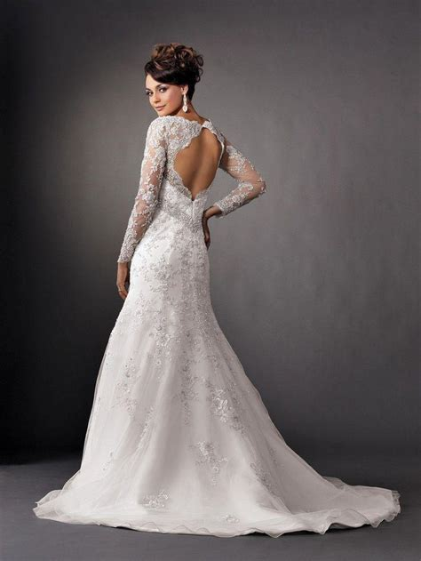 brautkleider langarm spitze backless dresses sleeve lace wedding gowns 2066098