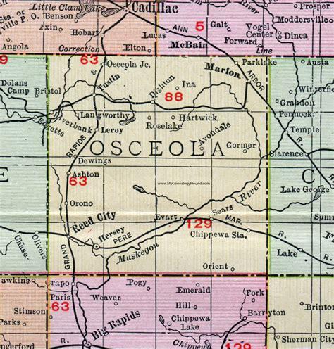 Osceola County Records Osceola County Mi Map Images
