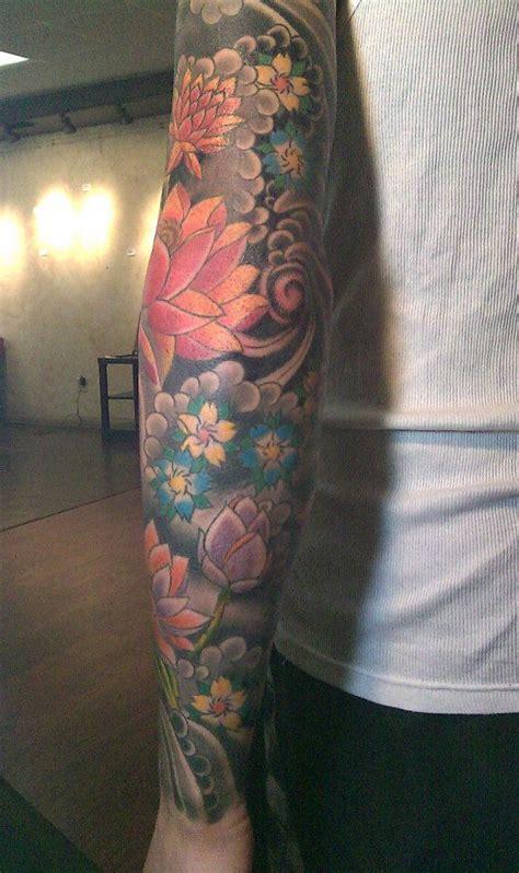 Japanese Flower Sleeve Tattoohelenasaurus Japanese Floral Sleeve Tattoos