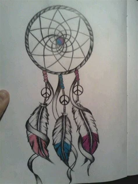 Peace Sign Dreamcatcher Drawing