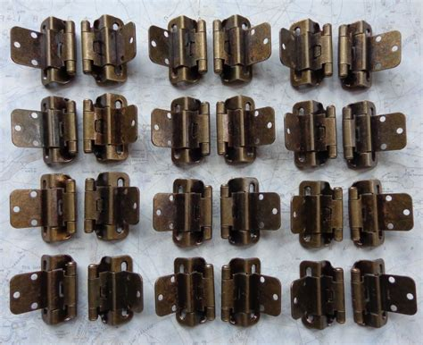 3 8 inset partial wrap cabinet hinges 12 pair 24 hinges partial wrap self closing cabinet hinge