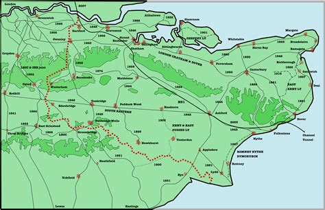 printable map kent oxted line wikipedia