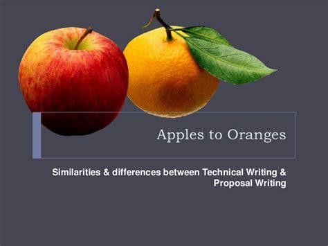 similarities between fin de si apples to oranges similarities and differences between