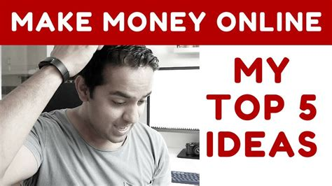 Best Money Making Ideas Online - top 5 ideas to make money online from home tashify youtube