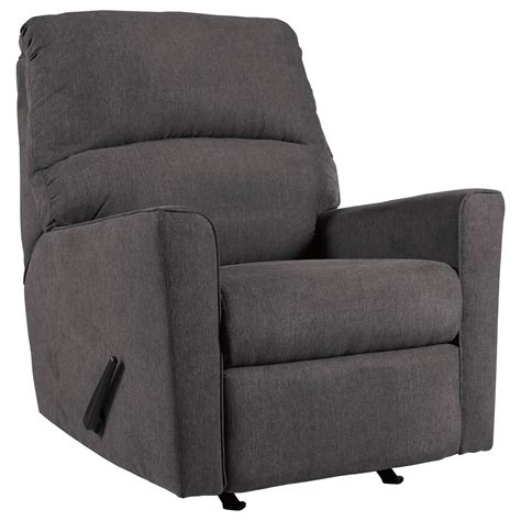 charcoal recliner signature design by ashley alenya charcoal contemporary