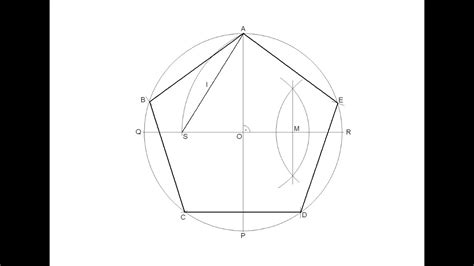 R Drawing Circle by How To Draw A Regular Pentagon Inscribed In A Circle Doovi