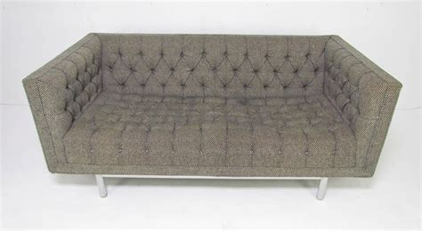 chesterfield settees for sale mid century jack cartwright tufted chesterfield tuxedo